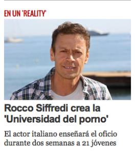 Rocco Siffredi plagia el formato de Dick Rowlands